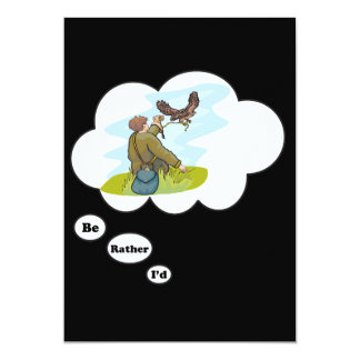 """I'd rather be Falconing 5"""" X 7"""" Invitation Card"""