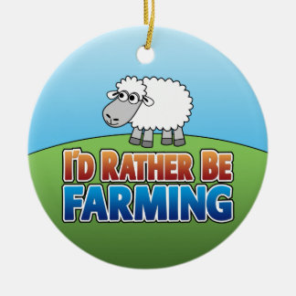 I'd Rather Be Farming - PIG Christmas Ornament