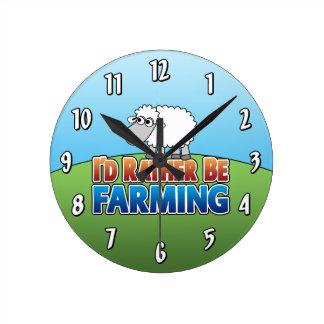 I'd Rather Be Farming - Sheep Wallclock
