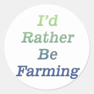 I'd rather be farming v2 round sticker