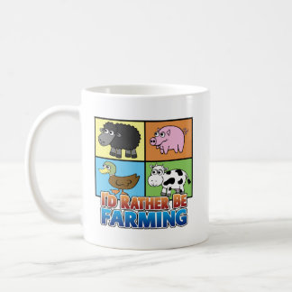 I'd rather be farming! (virtual farmer) coffee mug
