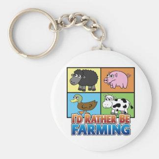 I'd rather be farming! (virtual farmer) key ring