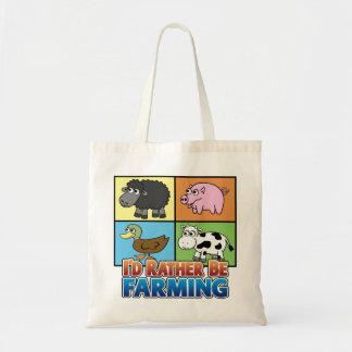 I'd rather be farming! (virtual farmer) tote bag