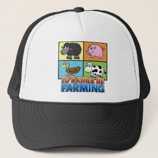 I'd rather be farming! (virtual farmer) trucker hat