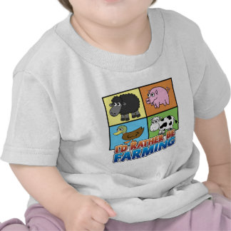 I'd rather be farming! (virtual farmer) tshirt