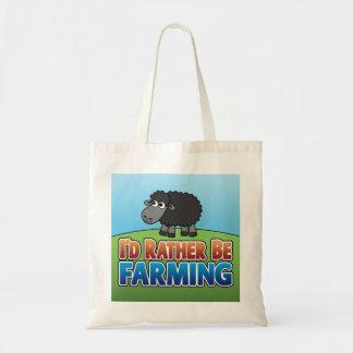 I'd Rather be Farming! (Virtual Farming) Budget Tote Bag