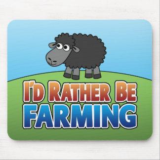 I'd Rather be Farming! (Virtual Farming) Mouse Mat
