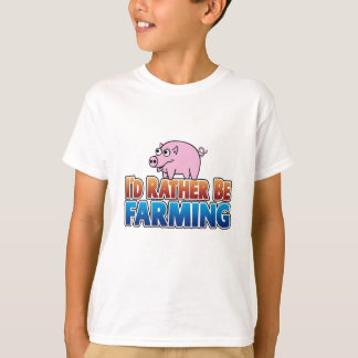 I'd Rather be Farming! (virtual farming) T-Shirt