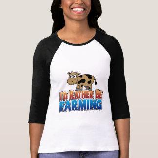 I'd Rather be Farming! (virtual farming) T-shirt