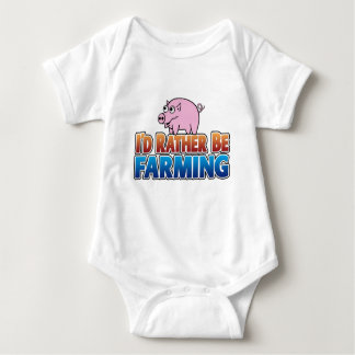 I'd Rather be Farming! (virtual farming) Tshirt