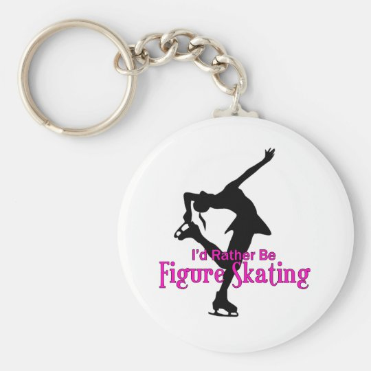 """I'd Rather Be Figure Skating"" Key Ring"