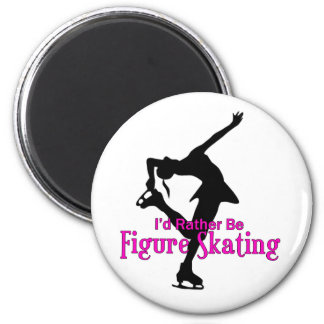 """I'd Rather Be Figure Skating"" Magnet"