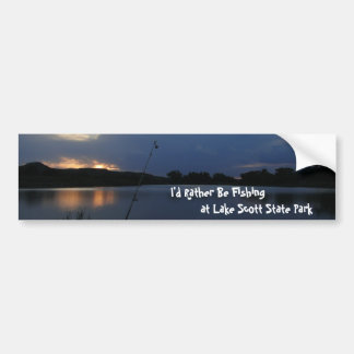 I'd Rather Be Fishing at Lake Scott State Park Bumper Sticker