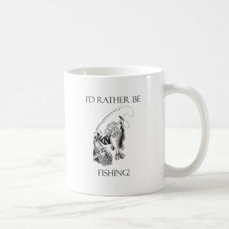 I'd Rather Be Fishing Basic White Mug