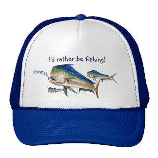 I'd rather be fishing! cap