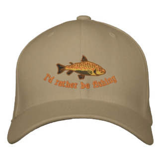 I'd Rather be Fishing Cap Embroidered Baseball Cap