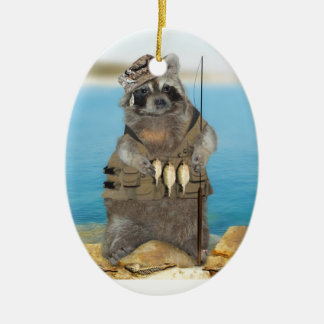 I'd Rather Be Fishing Ceramic Oval Decoration