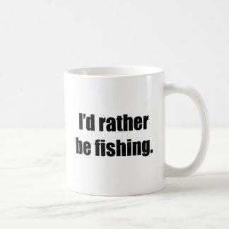 I'd Rather Be Fishing Classic White Coffee Mug