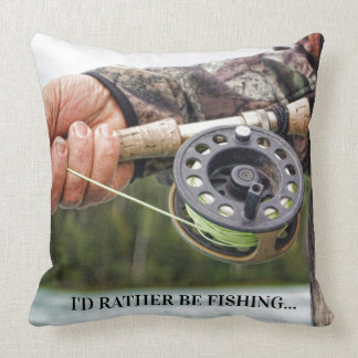 I'd rather be fishing cushion