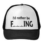I'd Rather be FishING - Funny Fishing Cap