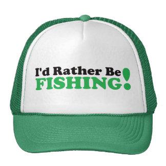I'd Rather be Fishing - Green Mesh Hats