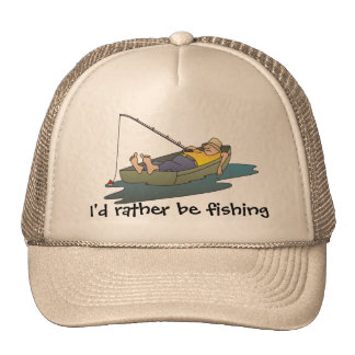 I'd rather be fishing - lazy boat day cap