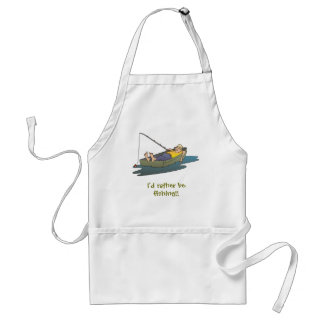 I'd rather be fishing - lazy boat day standard apron