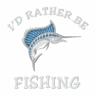I'd rather be fishing polo shirt