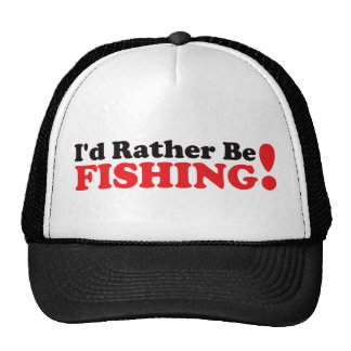 I'd Rather be Fishing - Red Cap