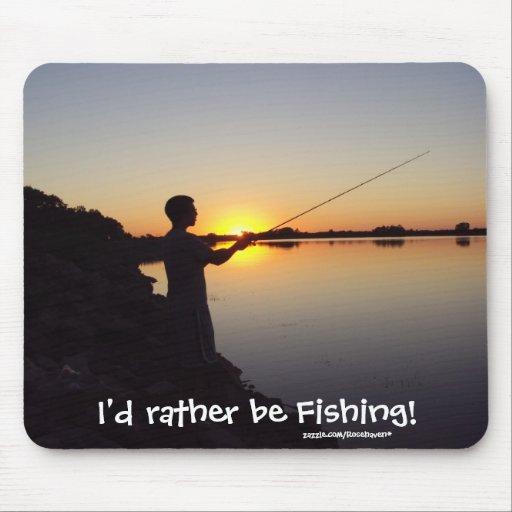 I 39 d rather be fishing sunset mousepad zazzle for I d rather be fishing