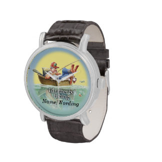 I'd Rather Be Fishing Wrist Watches