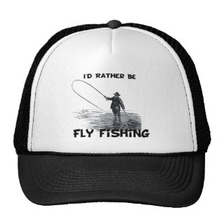 Id Rather Be Fly Fishing Hats