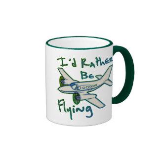 I'd Rather Be Flying Ringer Coffee Mug
