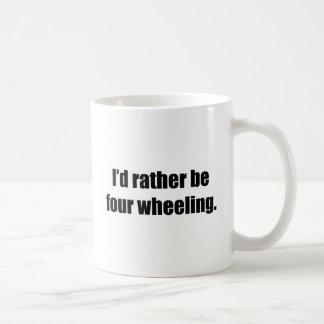 I'd Rather Be Four Wheeling Basic White Mug