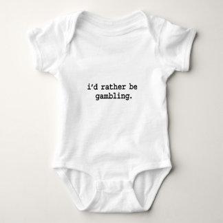 i'd rather be gambling. t-shirts