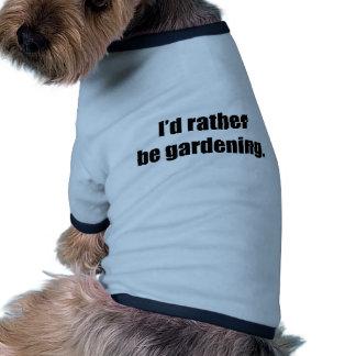 I'd Rather Be Gardening Ringer Dog Shirt