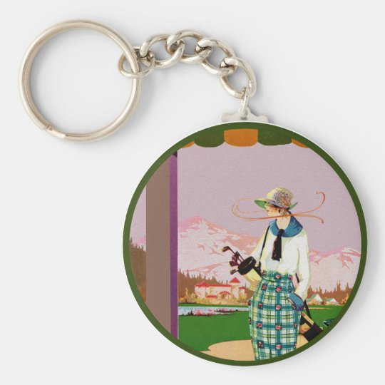 I'd Rather Be Golfing Basic Round Button Key