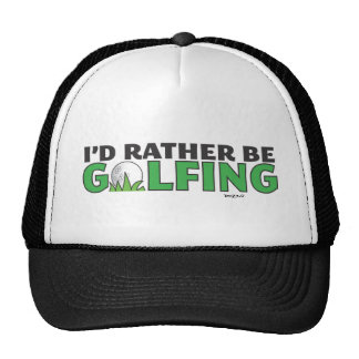 Id Rather Be Golfing Playing Golf Putt Hole In One Mesh Hats