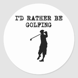 I'd Rather Be Golfing Stickers