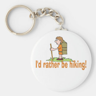 I'd Rather Be Hiking! Basic Round Button Key Ring