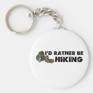 I'd Rather Be Hiking Basic Round Button Key Ring