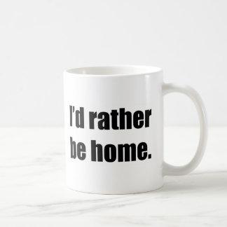 I'd Rather Be Home Basic White Mug