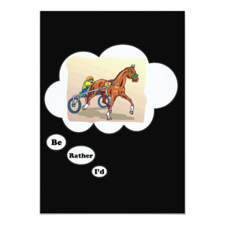I'd rather be Horse Racing 13 Cm X 18 Cm Invitation Card