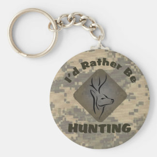 I'd Rather Be Hunting for Hunters Key Ring