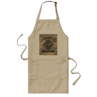 I'd Rather Be Hunting Funny Hunter Logo Long Apron