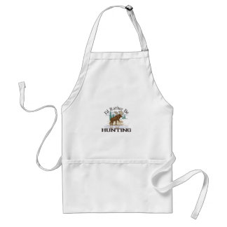 Id Rather Be Hunting Standard Apron