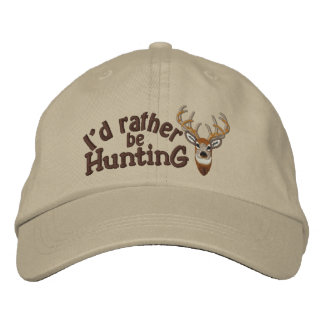 I'd rather be Hunting White Tail Embroidery Embroidered Hat