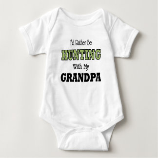 I'd Rather Be Hunting with Grandpa Baby Bodysuit