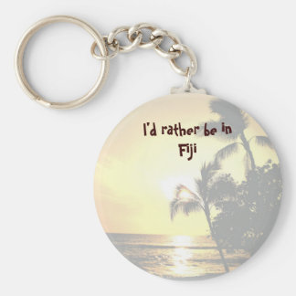 I'd Rather Be in a Tropical Island Key Ring