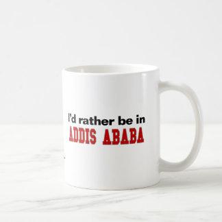 I'd Rather Be In Addis Ababa Basic White Mug